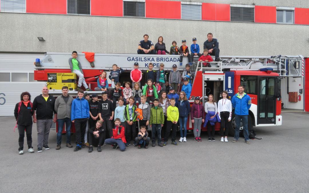 Izlet gasilske mladine na Slovensko Obalo